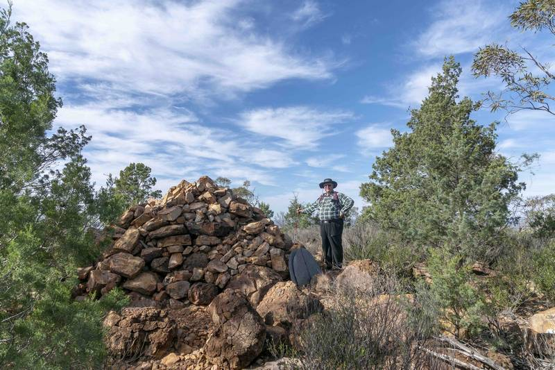 Michael Watts at summit cairn on Mt Gunderbooka