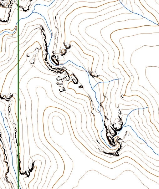 Map Snippet for Paddy Pallin rogaine